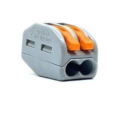 Wago Spojovací svorka zaklapávací - 2 vodiče 12,4x14,5x20,5mm 5 ks