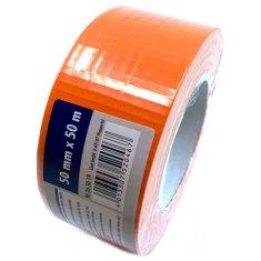 CIRET Páska stavební 50m oranžová, kaučuk.lepidlo 50mm