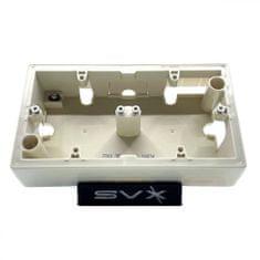 LEGRAND Valena 2 krabice na omítku béžová 161x89x40mm