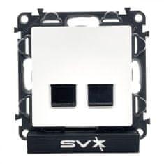 LEGRAND Valena LIFE zásuvka datová 2xRJ45 Cat5e FTP bílá 75×75×40mm