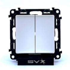 LEGRAND Valena LIFE vypínač č.6+6 bílý 74,7x74,7x41mm