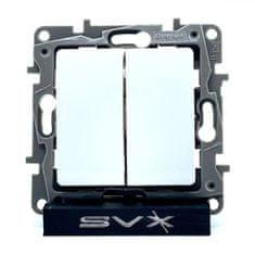 LEGRAND Niloé vypínač č.6+6 bílý 75,8x75,8x45,5mm