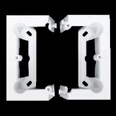 Kontakt-Simon S.A. Krabice povrchová skládací jednoduchá - bílá 87x82x47mm