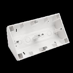 Kontakt-Simon S.A. Rohová dvojitá povrchová krabice - bílá 87x153x58mm