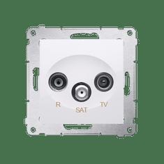 Kontakt-Simon S.A. Anténní zásuvka R-TV-SAT koncová - bílá 75x75x41mm