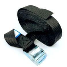 SVX Jednodílný rychloupínací pás se sponou a volným koncem černý 8M 500kg