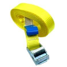 SVX Jednodílný rychloupínací pás se sponou a volným koncem žlutý 8M 500kg
