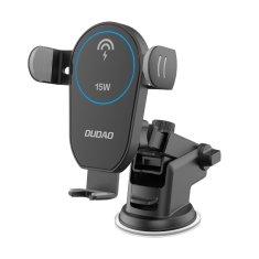 DUDAO F1Pro autós telefontartó vezetéknlküli töltővel 15W, fekete