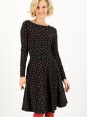 Blutsgeschwister černé dámské vzorované šaty Lady Like