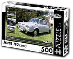 RETRO-AUTA© Puzzle č. 8 Škoda 100 L (1971) 500 dielikov