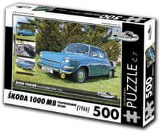 RETRO-AUTA© Puzzle č. 7 Škoda 1000 MB (1966) 500 dielikov