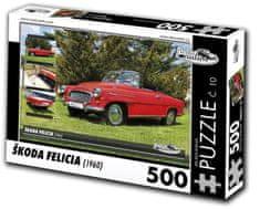 RETRO-AUTA© Puzzle č. 10 Škoda Felicia (1960) 500 dielikov