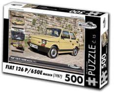 RETRO-AUTA© Puzzle č. 15 Fiat 126 P/650E Maluch (1987) 500 dielikov