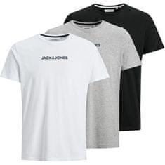 Jack&Jones 3 PACK - T-shirt JACRAIN Regular Fit 12184812BlackWhite - LGM