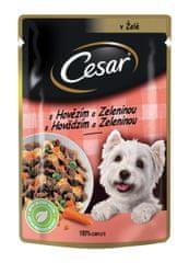 Cesar Kapsička pre dospelých psov s jemným hovädzím a mrkvou v želé 24x100 g