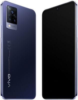 VIVO V21 5G nejrychlejší internet výkonný telefon luxusní výbava procesor MediaTek Dimensity 800U 5G podpora 5G 33W rychlonabíjení reverzí dobíjení čtečka otisku prstů NFC trojnásobný fotoaparát 64 + 8 + 2 Mpx HDR10+ OS Android 11 FunTouch 11.1 IP52 přední kamera 44Mpx panorama ultraširokoúhlý objektiv makro objektiv super noční režim optická stabilizace obrazu luxusní design elegantní výkonný telefon fotomobil 8GB RAM výkonná baterie dlouhá výdřž rychlý výkon 90Hz obnovovací frekvence bezrámečkový displej výkonný dostupný telefon