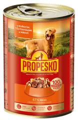Propesko Karma dla psów kurczak, marchew, makaron 12x415 g