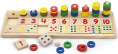 Viga Drewniana zabawka z liczbami