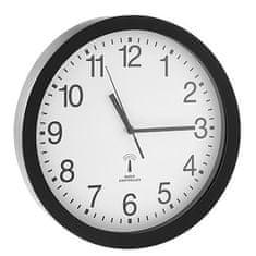 Alco stenska ura, radijsko vodena, klasičen videz, črn okvir