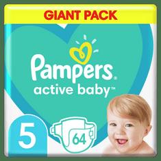 Pampers plenice Active Baby 5 Junior (11-16 kg) 64 kosov