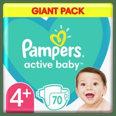 Pampers plenice Active Baby 4+ Maxi (10-15 kg) 70 kosov