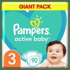 Pampers plenice Active Baby 3 Midi (6-10 kg) 90 kosov