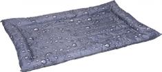 Flamingo Chladící pelíšek pro psy šedý vzor kapky 76x116cm