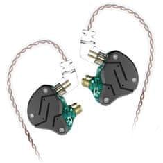 KZ ZSN hybridné HiFi slúchadlá do uší, čierne