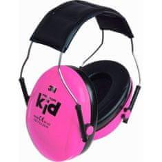3M Peltor Kid dětská sluchátka , růžová, SNR 27 dB lehká ochranná sluchátka pro děti