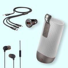 Colby poletni set 4v1 Jam Audio Bluetooth zvočnik, kabel 3v1, avto polnilec in ušesne slušalke - Odprta embalaža