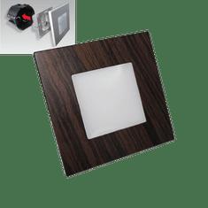 LUXERA LED Schodiskové svietidlo STEP LIGHT 48306 1W tmavé drevo