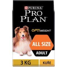 Purina Pro Plan All Size Adult Light/ Sterilised Optiweight 3kg