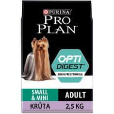 Purina Pro Plan Small & Mini Adult OPTIDIGEST Grain Free indyk 2,5 kg