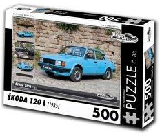 RETRO-AUTA© Puzzle č. 83 Škoda 120 L (1985) 500 dielikov