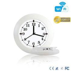 SpyTech Wi-Fi nástěnné hodiny HD 1080p - Barva: Wi-Fi bílé