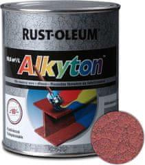 Alkyton kladívková červená 750ml - samozákladový email na kov, dřevo a beton