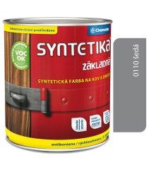 Chemolak Syntetika S2000 0110 šedá 0,6l - základní barva