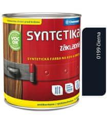 Chemolak Syntetika S2000 0199 černá 0,6l - základní barva