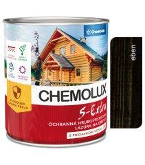Chemolak S1025 Chemolux S Extra 0192 eben 0,75l - hedvábně lesklá ochranná lazura na dřevo