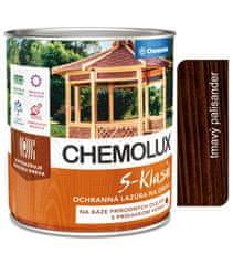 Chemolak S1040 Chemolux S-Klasik 0289 palisandr tmavý 2,5l - matná ochranná lazura na dřevo