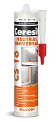 Ceresit CS 16 Neutral silikon bílý 300ml - vhodný pro zásadité podklady a kovy
