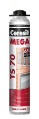 Ceresit TS70 Mega PRO 850ml - pu pěna pistolová na okna a dveře