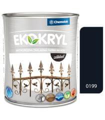 Chemolak Ekokryl základ 0199 černý 0,6l - základní vodou ředitelná barva na kov