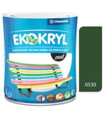Chemolak Ekokryl Mat V2045 0530 středně zelená 0,6l - vrchní akrylátová barva na dřevo a kov