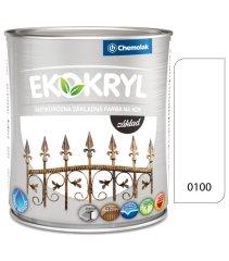 Chemolak Ekokryl základ 0100 bílý 0,6l - základní vodou ředitelná barva na kov