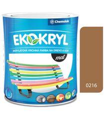 Chemolak Ekokryl Mat V2045 0216 ořech shea 0,6l - vrchní akrylátová barva na dřevo a kov