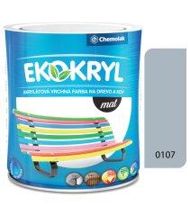 Chemolak Ekokryl Mat V2045 0107 světlá šedá 0,6l - vrchní akrylátová barva na dřevo a kov