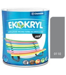 Chemolak Ekokryl Mat V2045 0110 šedá 0,6l - vrchní akrylátová barva na dřevo a kov