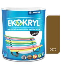 Chemolak Ekokryl Mat V2045 0670 okrová 0,6l - vrchní akrylátová barva na dřevo a kov