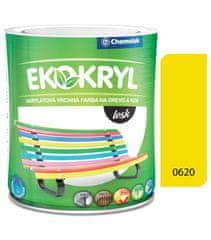 Chemolak Ekokryl Lesk V2062 0620 žlutá 0,6l - vrchní akrylátová barva na dřevo a kov